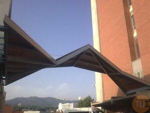 Pasarela techo estructural en acero
