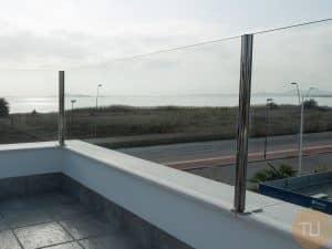 valla terraza acero crital