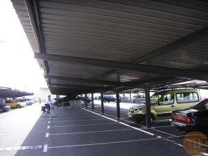 Techo parking en acero